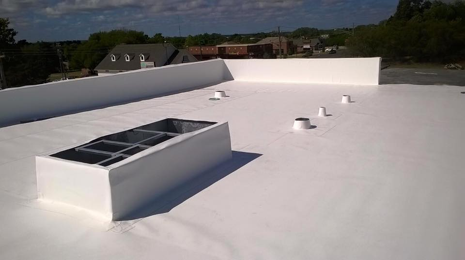 Completed TPO roof in Fort Worth TX