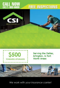 Fort Worth Commercial Roofering Flyer